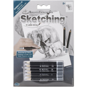 Royal Brush Sketching Made Easy Elephant & Baby Mini Kit, 13cm by 18cm