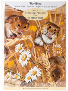 Pollyanna Pickering Sketchbook A4 Die-Cut Decoupage Card Kit-Ch.5 British Wildlife Harvest Mouse