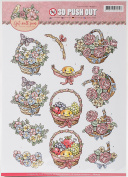 Find It Trading Yvonne Creations Punchout Sheet-Get Well Soon Fruit Basket