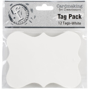 Ruby Rock-It Fundamentals Scallop Tags (12 Pack), Large, White
