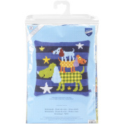 Vervaco Funny Dogs Cushion Cross Stitch Kit, 40cm by 40cm