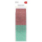 Red & Green - Simply Creative Gems 6mm, 504/Pkg