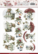 Find It Precious Marieke Joyful Christmas Punchout Sheet-Snowman