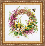 Wreath With Fireweed Counted Cross Stitch Kit-11.75x11.75 14 Count