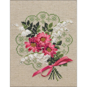Bouquet Of Love Counted Cross Stitch Kit-18cm x 23cm 14 Count