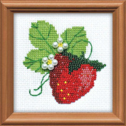 Garden Strawberry Counted Cross Stitch Kit-10cm x 10cm 14 Count