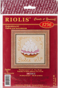 Cake Basket Counted Cross Stitch Kit-10cm x 10cm 14 Count