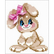 Baby Rabbit Counted Cross Stitch Kit-15cm x 18cm 10 Count