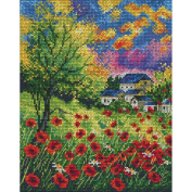 Run Away Poppies Counted Cross Stitch Kit-18cm x 22cm 14 Count