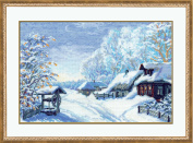 Russian Winter Counted Cross Stitch Kit-15x10.25 15 Count