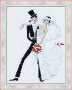 Wedding Tango Counted Cross Stitch Kit-8x10.25 14 Count
