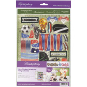 Hunkydory Crafts HIM112 Crafts Man Of The Match & Rugby AceFor Him A4 Collage-A-Card Luxury Card Set