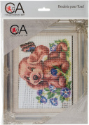 CD3191K Collection D'Art Stamped Needlepoint Kit 20X25cm-Puppy And Butterfly