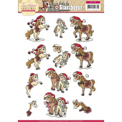 Find It Trading Yvonne Creations Punchout Sheet-Traditional Christmas