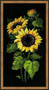 Sunflowers Counted Cross Stitch Kit-9.75x19.75 10 Count