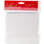 Papermania Create Christmas Cards W/Envelopes 15cm x 15cm 24/Pkg-White, Red, Gold & Silver Glitter
