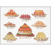 Sweet Dishes On Aida Counted Cross Stitch Kit-39cm x 50cm 16 Count
