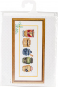 TG3046A Mustard Pot On Aida Counted Cross Stitch Kit-16cm x 36cm 18 Count