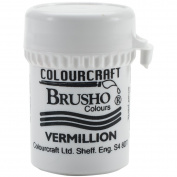 Brusho Crystal Colours 15 Gramme Vermillion