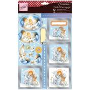 Anita'S A4 Foiled Decoupage Sheet-Cute Angel