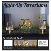 PS005507 DCWV DIY Light Up Project Stack-5 Holiday Terrariums
