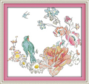 CaptainCrafts Hot New Releases Cross Stitch Kits Needlecrafts Patterns Counted Embroidery Kit - Full Of Singing Birds And Of Sweet Scented Flowers