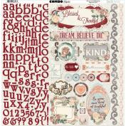 BoBunny 20103618 Bella Rosa Combo Stickers 30cm x 30cm -