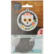60024 Metal Circle Punched For Cross Stitch-2/Pkg