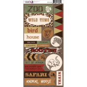 Zoo Cardstock Stickers-