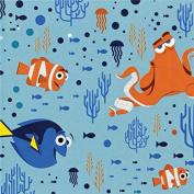 Disney Finding Dory-Camelot Design Studio 2.5cm Cotton D/R-Characters & Coral - Tide