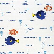 Disney Finding Dory-Camelot Design Studio 2.5cm Cotton D/R-Swimming - White