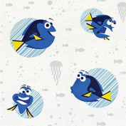 Disney Finding Dory-Camelot Design Studio 2.5cm Cotton D/R-Dory Faces - White