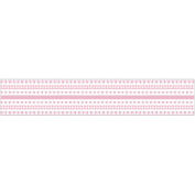 Srm Little Borders Stickers-Baby Pink & White