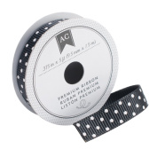 American Crafts Dollar Adhesive Charcoal Micro Dots Ribbon, 1cm by 1.5m