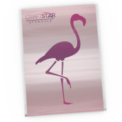 CraftStar Flamingo Stencil - Reusable Craft Airbrush / DIY / Home Decor Template - A5 / A6 Sizes