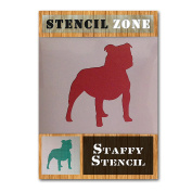 Staffordshire Bull Terrier Mylar Painting Wall Art Stencil Home Decor Art Crafts