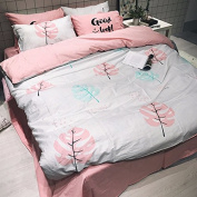 Bedding set Lovely cartoon bed four pieces of children's bedding cotton kit simple bed,J,1.5m