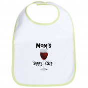 CafePress - Mom's Sippy Cup Bib - Cute Cloth Baby Bib, Toddler Bib