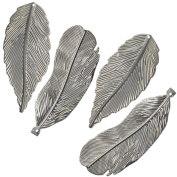 BCI Crafts T4FEATH Salvaged Feathers 4/Pkg-,,