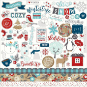 A Perfect Winter Cardstock Stickers 30cm x 30cm -Elements