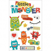 Paper House Productions STDM-211E 3D Stickers, Little Monster