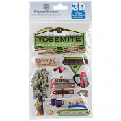 Paper House 3D Stickers 11cm x 18cm -Yosemite