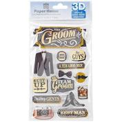 Paper House 3D Stickers 11cm x 18cm -Wedding Groom