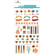 Paper House Productions Autumn Woods Stickers 3, 3-Pack, Epoxy