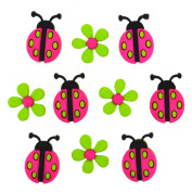 Jesse James Buttons, Dress It Up, LADYBUG CROSSING pkg #9385 Craft Sewing Buttons