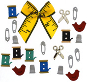 Jesse James Buttons, Dress It Up, SEWING BOX pkg #9557 Craft Sewing Buttons