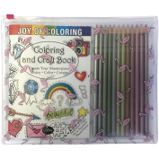 Zorbitz Joy of Colouring Adult Craft Book with Pencils