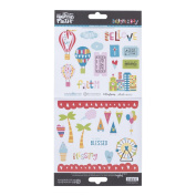 Illustrated Faith - Cardstock Stickers - Hot Air Balloons