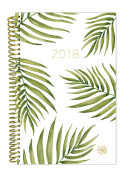 bloom daily planners 2018 Calendar Year Daily Planner - Passion/Goal Organiser - Monthly and Weekly Datebook and Calendar - January 2018 - December 5130cm - 15cm x 21cm - Palm Leaves