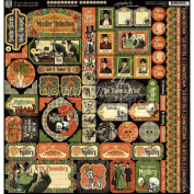 Graphic 45 Master Detective Decorative Stickers